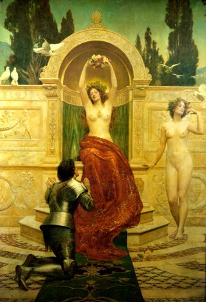 Reproduction oil paintings - John Maler Collier - In the Venusburg (Tannhauser), 1901