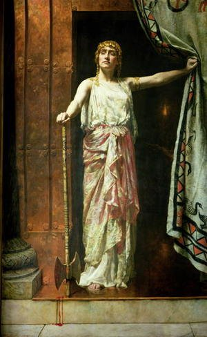 Reproduction oil paintings - John Maler Collier - Clytemnestra, 1882