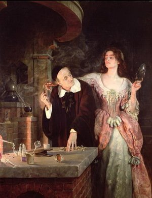Reproduction oil paintings - John Maler Collier - The Laboratory, 1895