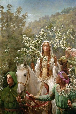 Reproduction oil paintings - John Maler Collier - Queen Guinevere's Maying