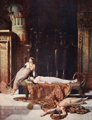 Reproduction oil paintings - John Maler Collier - The Death of Cleopatra