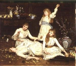 Reproduction oil paintings - John Maler Collier - The Daughters of Col. Makins M.P.