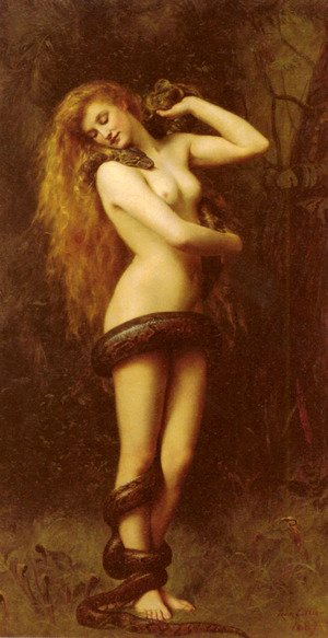 Academic Classicism painting reproductions: Lilith, 1887
