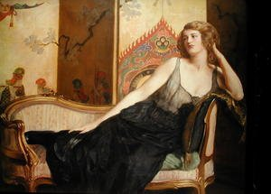 Reproduction oil paintings - John Maler Collier - Reclining Woman