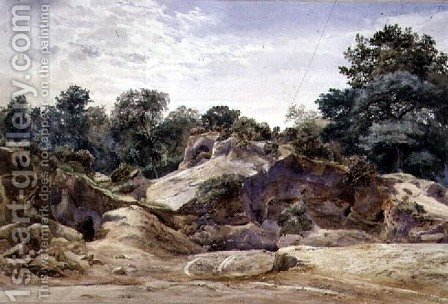 Thomas Collier: Gravel Pit at Hampstead - reproduction oil painting