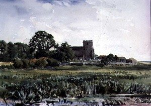 Naturalism painting reproductions: Lyminster Church, near Arundel
