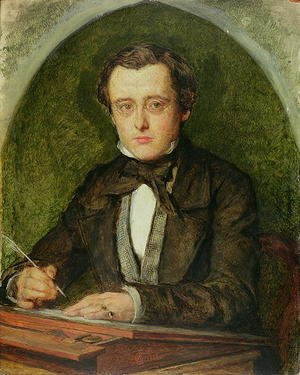 Reproduction oil paintings - Charles Allston Collins - Portrait of Wilkie Collins (1824-89) 1853