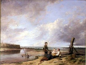 Reproduction oil paintings - William Collins - Shrimp Boys at Cromer, 1815