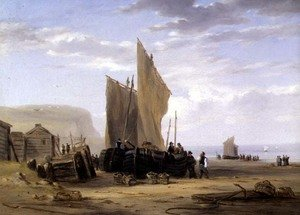 Reproduction oil paintings - William Collins - On the Coast of Yarmouth