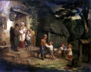 Reproduction oil paintings - William Collins - The Pet Lamb, c.1831