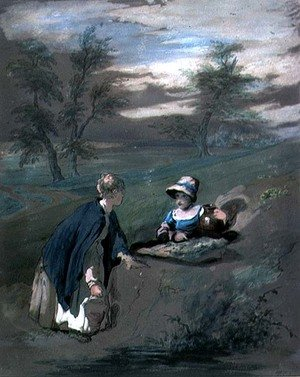 Reproduction oil paintings - William Collins - Kentish Peasant Girls