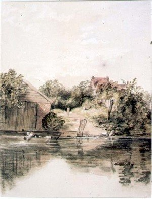 Reproduction oil paintings - William Collins - The Riverside