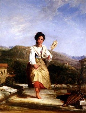 Reproduction oil paintings - William Collins - A Girl of Sorrento