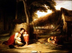Reproduction oil paintings - William Collins - The Venturesome Robin, 1831