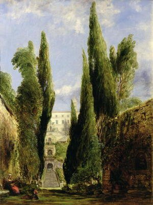 Reproduction oil paintings - William Collins - Villa D'Este, Tivoli