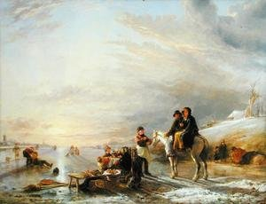 Reproduction oil paintings - William Collins - Frost Scene, 1827