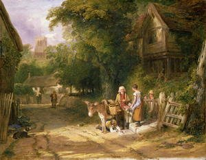 Reproduction oil paintings - William Collins - The Cherry Seller, 1824