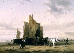 Reproduction oil paintings - William Collins - On The Coast at Yarmouth