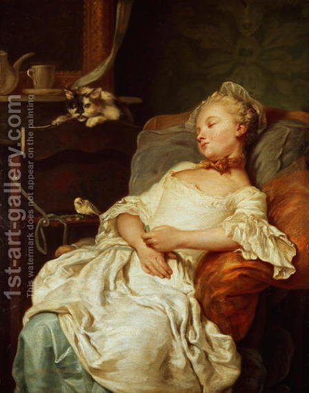 Jean Francois Colson: The Sleeper, 1759 - reproduction oil painting
