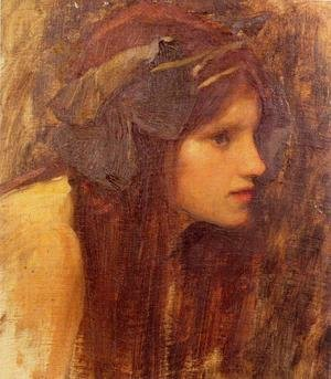 Famous paintings of Nymphs & Satyrs: A Naiad, study 1893