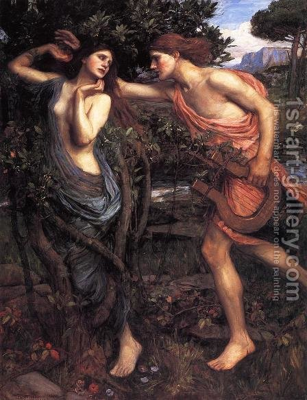 Waterhouse: Apollo and Daphne  1908 - reproduction oil painting