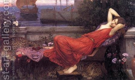 Waterhouse: Ariadne  1898 - reproduction oil painting