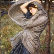 Oil painting reproductions - Pre-Raphaelites - John William Waterhouse: Boreas  1903