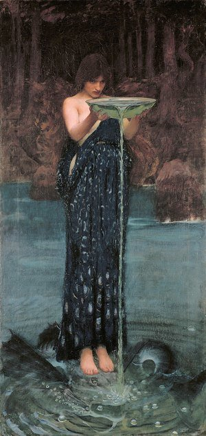 Reproduction oil paintings - Waterhouse - Circe Invidiosa  1892