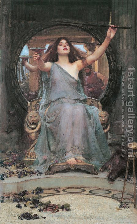 Waterhouse: Circe Offering the Cup to Ulysses  1891 - reproduction oil painting