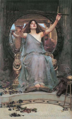 Reproduction oil paintings - Waterhouse - Circe Offering the Cup to Ulysses  1891