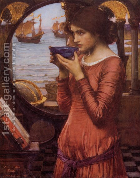 Waterhouse: Destiny  1900 - reproduction oil painting