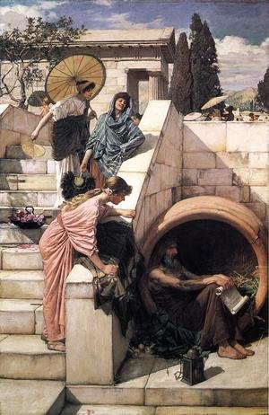 Reproduction oil paintings - Waterhouse - Diogenes  1882