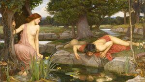 Reproduction oil paintings - Waterhouse - Echo and Narcissus  1903