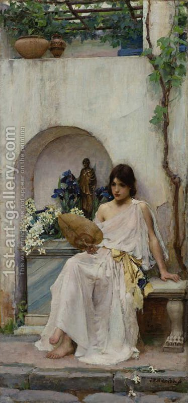 Waterhouse: Flora  1891 - reproduction oil painting