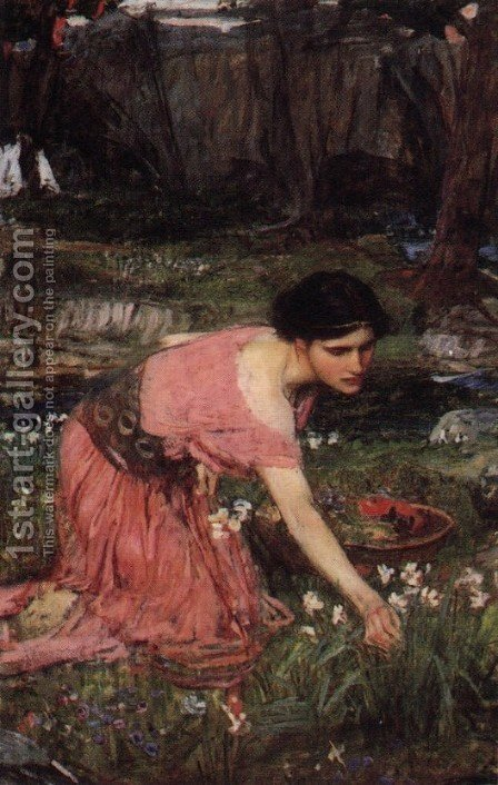 Waterhouse: Flora  1890 - reproduction oil painting