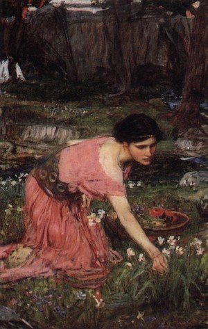 Reproduction oil paintings - Waterhouse - Flora  1890