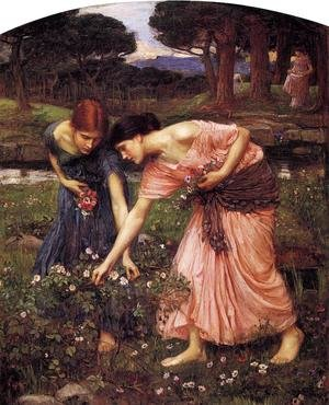 Reproduction oil paintings - Waterhouse - Gather ye Rosebuds while ye may  1909