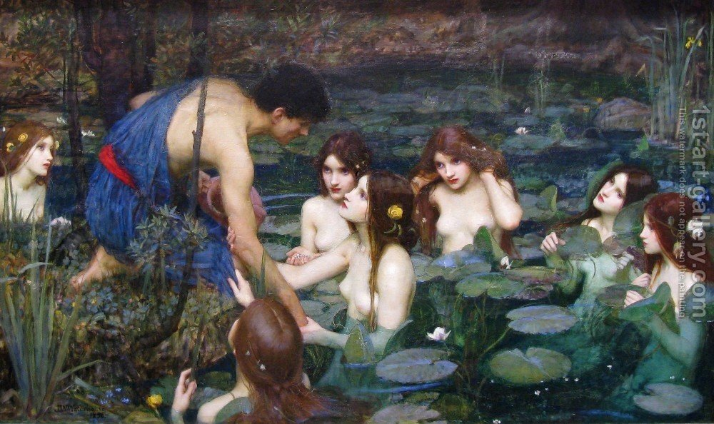 Huge version of Hylas and the Nymphs  1896