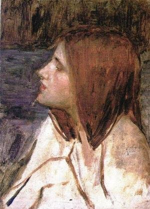 Reproduction oil paintings - Waterhouse - Head of a Girl  1896