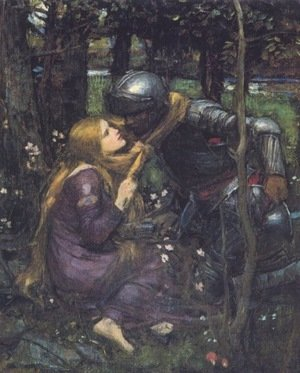 Famous paintings of Trees: La Belle Dame Sans Merci study  1893