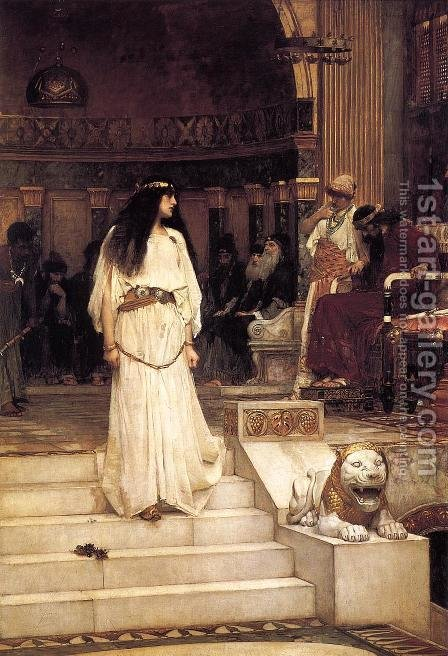 Waterhouse: Mariamne leaving the Judgement Seat of Herod  1887 - reproduction oil painting