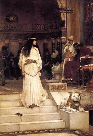 Reproduction oil paintings - Waterhouse - Mariamne leaving the Judgement Seat of Herod  1887