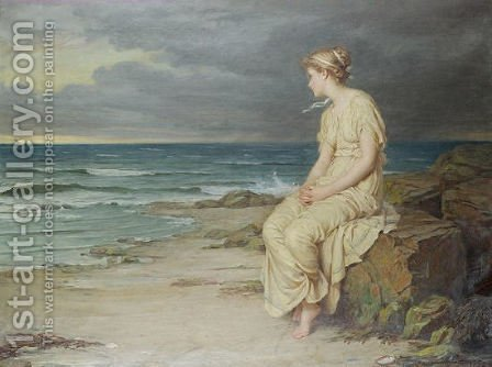 Miranda  1875 by Waterhouse - Reproduction Oil Painting