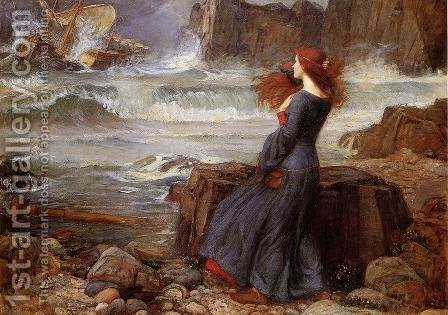 Waterhouse: Miranda - The Tempest  1916 - reproduction oil painting