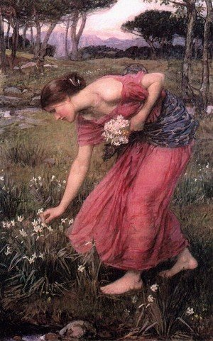 Reproduction oil paintings - Waterhouse - Narcissus  1912