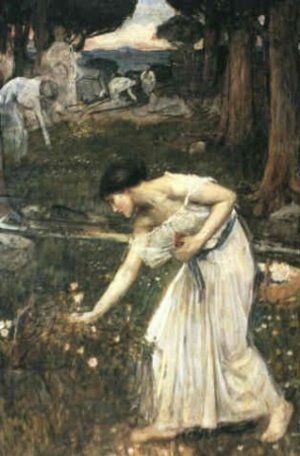 Reproduction oil paintings - Waterhouse - Narcissus  study  1912