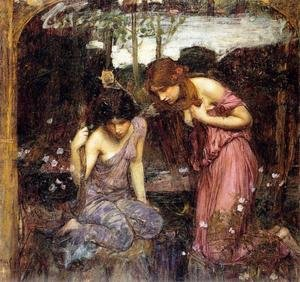 Reproduction oil paintings - Waterhouse - Nymphs finding the Head of Orpheus  study  1900