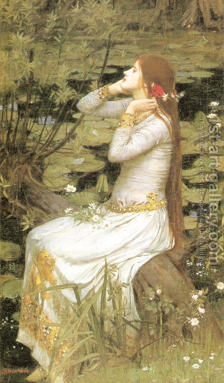 Waterhouse: Ophelia  1894 - reproduction oil painting