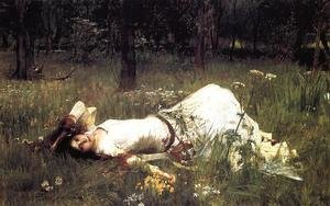 Famous paintings of Trees: Ophelia  1889