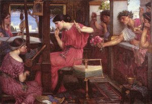 Pre-Raphaelites painting reproductions: Penelope and the Suitors  1912